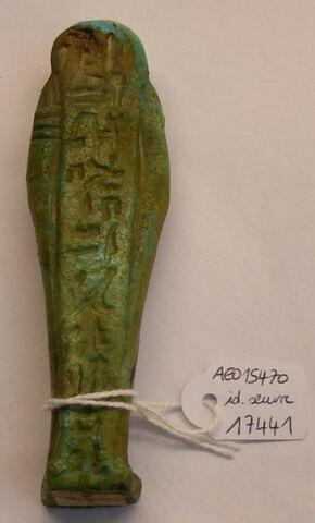 vue d'ensemble ; dos, verso, revers, arrière © 2019 Musée du Louvre / Antiquités égyptiennes