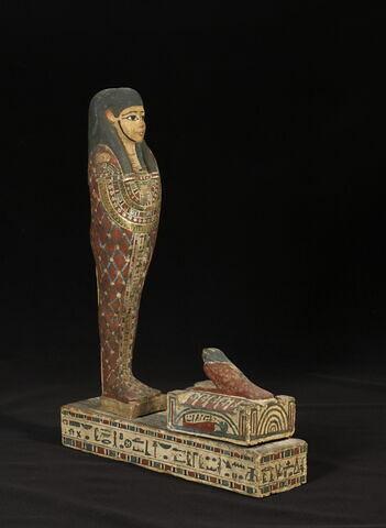 figurine d'oiseau akhem ; statue de Ptah-Sokar-Osiris ; figurine