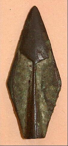 pointe de flèche à douille à 2 tranchants losangique