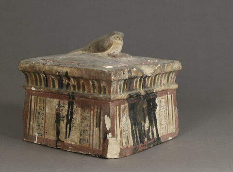 coffret funéraire ; sarcophage de faucon