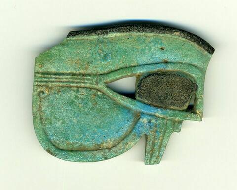 amulette oudjat simple biface ; amulette