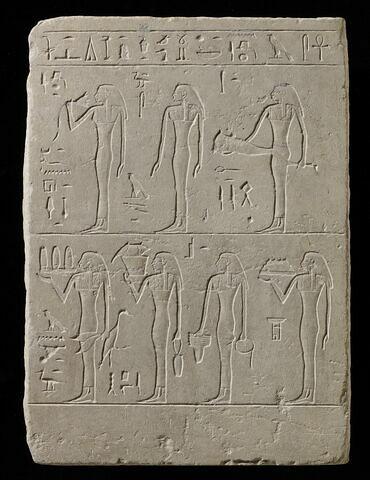 stèle rectangulaire ; stèle à 2 registres