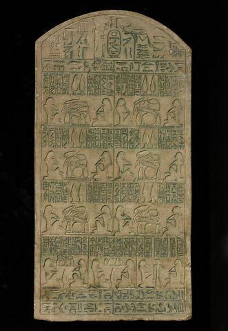 stèle cintrée ; stèle à 4 registres ; Stèle de Kefnen