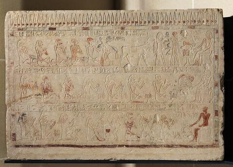 stèle rectangulaire allongée ; stèle à 3 registres ; stèle chapelle ; Stèle de Sénouséret
