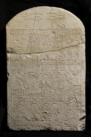stèle cintrée ; stèle à 3 registres ; Stèle de Hékait et Séhetepib