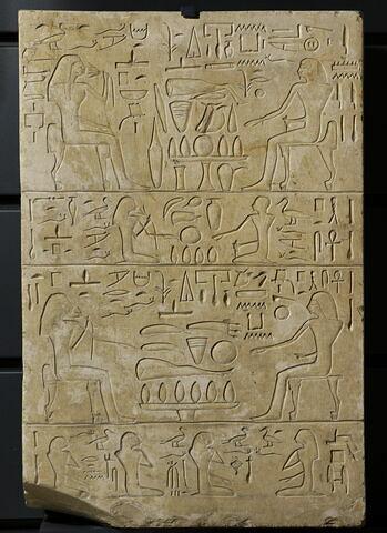 stèle rectangulaire ; stèle à 4 registres
