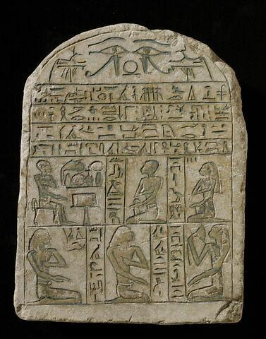 stèle cintrée ; stèle à 2 registres ; Stèle de Sénebimény