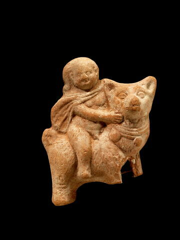 figurine d'Harpocrate au chien