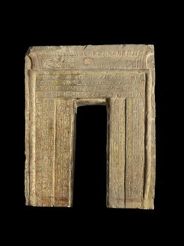 stèle fausse porte ; stèle à corniche