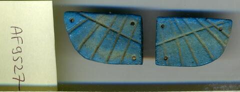aile droite de scarabée funéraire ; aile gauche de scarabée funéraire