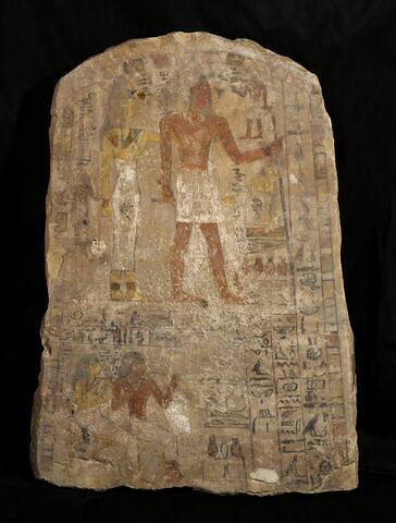 stèle cintrée ; stèle à 2 registres ; Stèle de Sénès-Imenâa