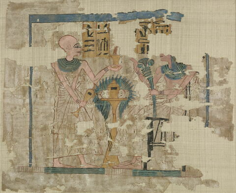tissu ; plastron de momie ; linceul peint