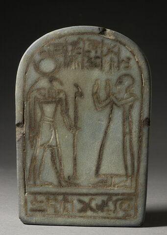 stèle cintrée ; stèle miniature