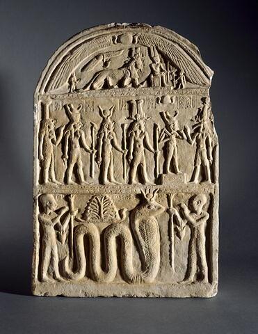 stèle cintrée ; stèle à 2 registres