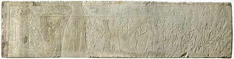 relief mural ; bloc de paroi ; linteau ; Relief de Lirinon