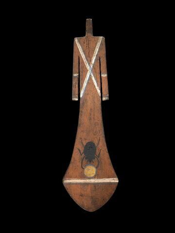 figurine féminine en forme de pagaie ; Paddle-Doll