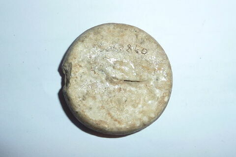 dos, verso, revers, arrière ; détail marquage / immatriculation © Musée du Louvre / Antiquités égyptiennes
