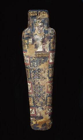 linceul peint ; portrait de momie ; momie d'homme