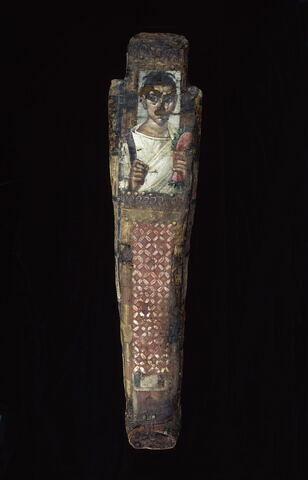 linceul peint ; portrait de momie ; momie d'homme ; Portrait d'un fils d'Antinoos