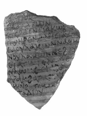 ostracon ; Lettre de Katharôn à Jacob