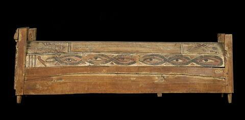 cercueil rectangulaire à poteaux d'angle ; couvercle de cercueil