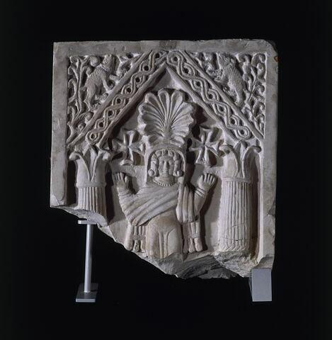 stèle funéraire ; Stèle à l'orante