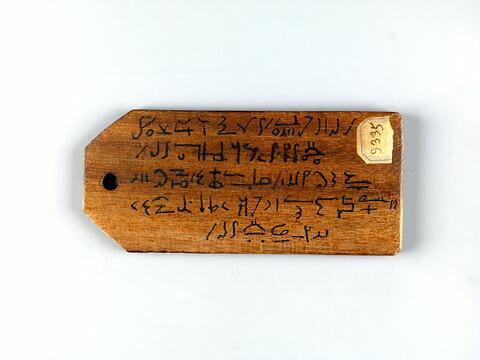 étiquette de momie biface ; étiquette de momie triangluaire