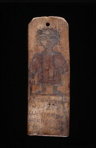 étiquette de momie en palette ; étiquette de momie biface