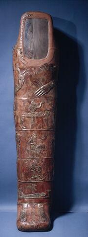 enveloppe de momie en cartonnage ; portrait de momie