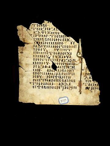 parchemin ; Feuillet opisthographe : I Corinthiens 4