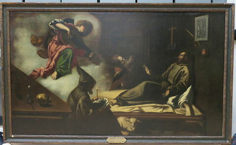 Saint François réconforté par un ange
