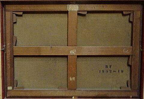 châssis ; dos, verso, revers, arrière © 2019 Musée du Louvre / Peintures