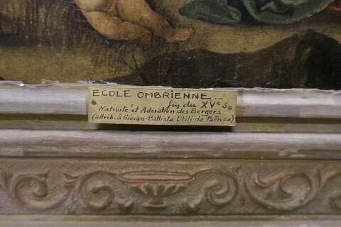 détail étiquette ; face, recto, avers, avant © 2018 Musée du Louvre / Peintures
