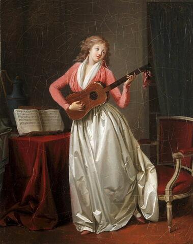 Nina chantant la romance, dit aussi Femme à la mandoline