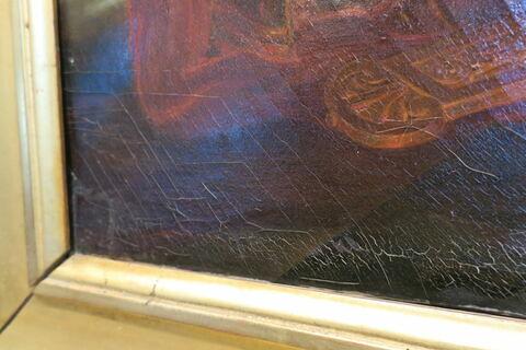 face, recto, avers, avant ; détail ; partie gauche ; partie inférieure © 2019 Musée du Louvre / Peintures