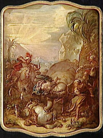 Chasse à l'éléphant (esquisse)