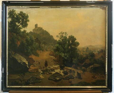 Vue des environs de Volterra ; étude d'après nature, en Toscane
