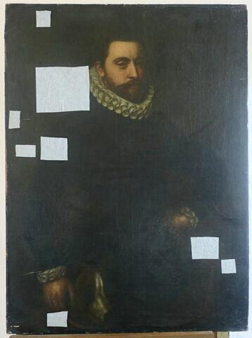 Portrait d'inconnu à mi-corps (époque d'Henri IV)