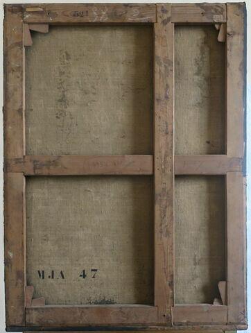 dos, verso, revers, arrière ; vue d'ensemble © 2019 Musée du Louvre / Peintures