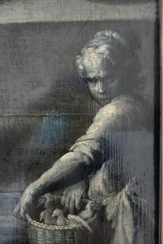 face, recto, avers, avant ; face A, face 1 ; détail signature © 2020 Musée du Louvre / Peintures