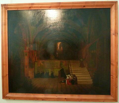Vue intérieure de l'église du couvent de San Benedetto, près Subiaco