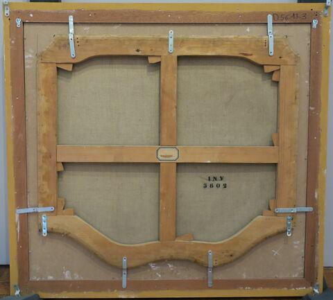 vue d'ensemble ; vue avec cadre ; dos, verso, revers, arrière © 2019 Musée du Louvre / Peintures