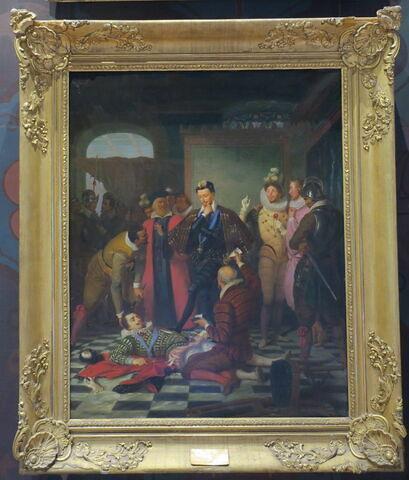 Henri III poussant du pied le cadavre du duc de Guise
