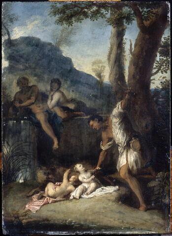 Faustulus recueillant Romus et Remulus