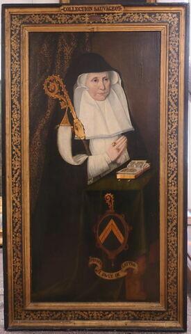 Portrait d'Anne de Lattre, abbesse du couvent Notre-Dame-de-Beaulieu à Sin-le-Noble (près de Douai) de 1556 à 1607