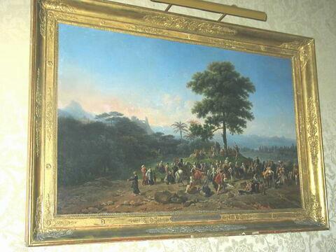 Paysage, site du Brésil, avec la prédication de saint Jean Baptiste