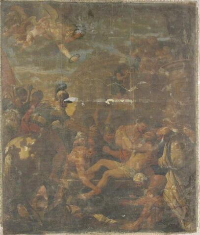 vue d'ensemble ; face, recto, avers, avant ; déroulé © 2012 Musée du Louvre
