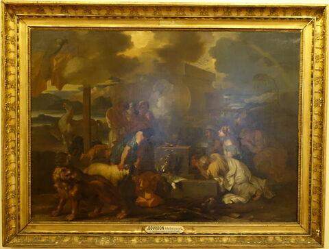 Le Sacrifice de Noé à la sortie de l'arche