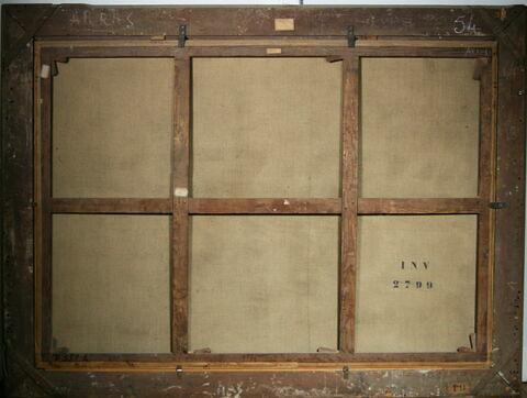 vue d'ensemble ; vue avec cadre ; dos, verso, revers, arrière © 2012 Musée du Louvre