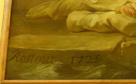 face, recto, avers, avant ; détail signature © 2020 Musée du Louvre / Peintures